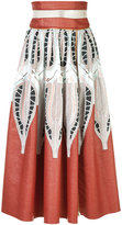 Sophie Theallet printed A-line skirt - women - Cotton/Polyamide - 4