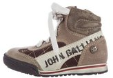 John Galliano Boys' High-Top Leather Sneakers
