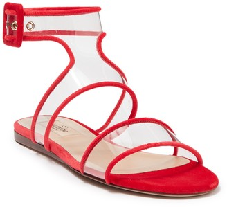 Valentino Clear Ankle Strap Sandal
