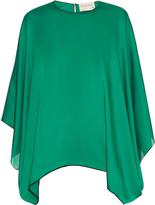 Maison Rabih Kayrouz Kimono-sleeved charmeuse blouse