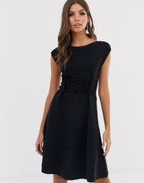 French Connection Katie lace up fit and flare dress