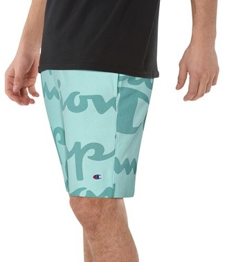 Champion Reverse Weave Cut Off Shorts - Waterfall Green