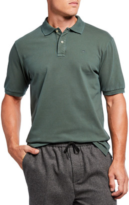 Scotch & Soda Men's Garment Dyed Short-Sleeve Pique Polo Shirt