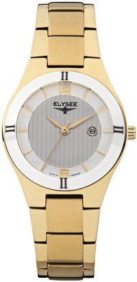 Elysee Unisex Adult Analogue Quartz Watch with Stainless Steel Strap 33044