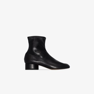 Maison Margiela black Tabi 30 leather ankle boots