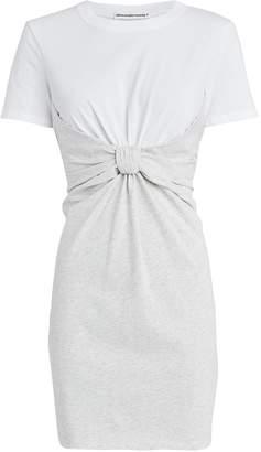 Alexander Wang High Twist Combo T-Shirt Dress
