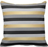 colonstill Black, Gold and Silver Stripes pillow cover 16*16 cover 16*16