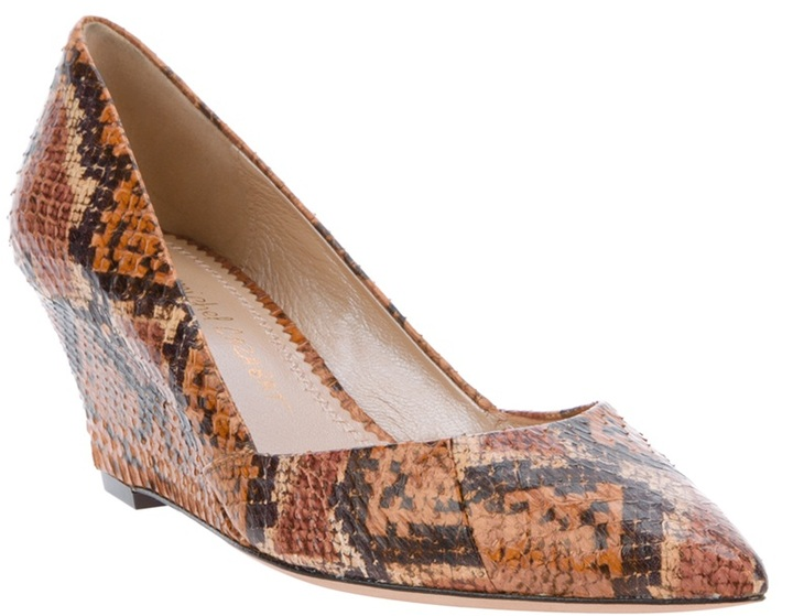 Jean-Michel Cazabat leopard-print wedge heel