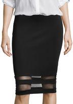 BELLE + SKY Mesh Detail Pencil Skirt