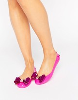 Ted Baker Julivia Bow Hot Pink Ballet Flat Shoes