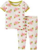 Kickee Pants Printed Pajama Set (Baby) - Natural Ladybug - 0-3 Months