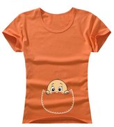 Zhuhaixmy Funny Print Pregnant Women Tops T-Shirts O-Neck Short Sleeve Maternity