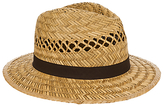 John Lewis Open Weave Seagrass Fedora Hat, Natural