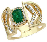 Effy Brasilica Emerald, Diamond and 14K Yellow Gold Ring 0.55 TCW