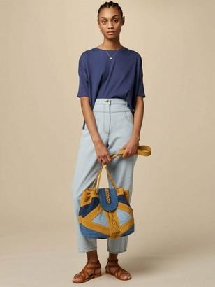 Sessun Achill Jersey T Shirt In Blue Marlin - XS