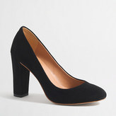J.Crew Factory Olive suede pumps