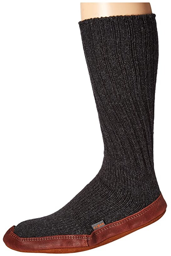 Acorn Slipper Sock (Charcoal Ragg Wool) Shoes