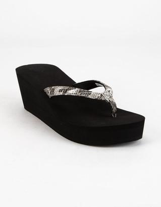 Reef Midnight Womens Platform Sandals