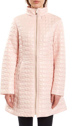 Kate Spade Bow-Quilt Fit-&-Flare Jacket