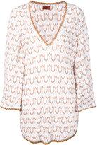 Missoni v-neck knit beach dress - women - Cotton/Polyester/Rayon - 42