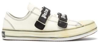 Palm Angels Velcro-strap Canvas Trainers - Mens - White Black