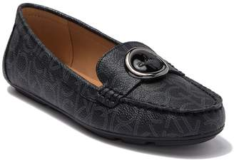 Calvin Klein Leana Monogram Smooth Slip On Loafer