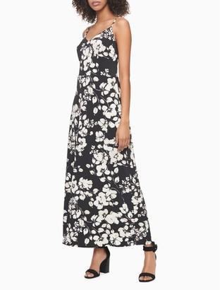 Calvin Klein Printed Knit Long Slip Dress