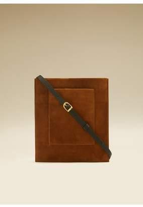 KHAITE The Lillian Pocket Pouch In Caramel Suede