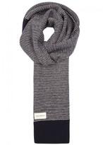 Oliver Spencer Striped Wool Scarf