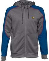 Lyle And Scott Fitness Mens Hurst Hooded Overlay Track Jacket Mid Grey Marl