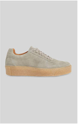 Whistles Abbey Suede Deep Sole Trainer