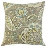 Harum Floral Throw Pillow Cover The Pillow Collection Color: Platinum