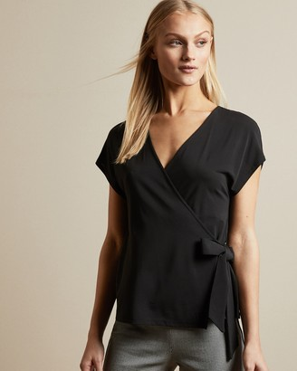 Ted Baker SESIEE V neck jersey wrap top