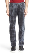 Versace Men's Distressed Straight Leg Jeans
