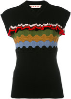 Marni Mixed-stitches knitted top