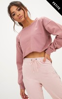 PrettyLittleThing Petite Pink Cropped Sweater