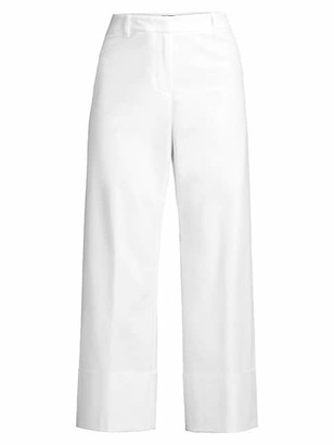 Lafayette 148 New York Clark Cuffed Cropped Pants
