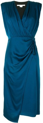 Veronica Beard Drape-Detail Wrap Dress