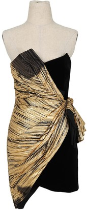Alexandre Vauthier Gold Cotton Dresses
