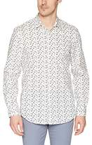 Perry Ellis Men's Long Sleeve Modern Geo Print Shirt