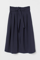 H&M Tie Belt Skirt - Blue