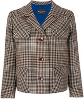Etro houndstooth and check blouson jacket