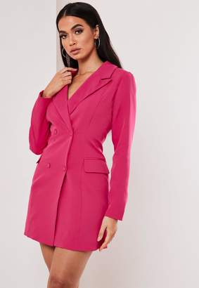 Missguided Fuchsia Tailored Blazer Dress