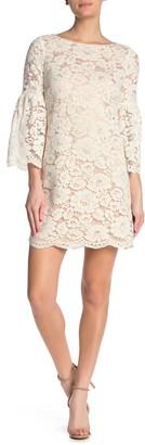 Vince Camuto Lace Bell Sleeve Sheath Dress (Regular & Plus Size)