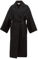Loewe Oversized Belted Wool Coat - Womens - Black