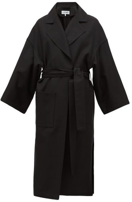 Loewe Oversized Belted Wool Coat - Black