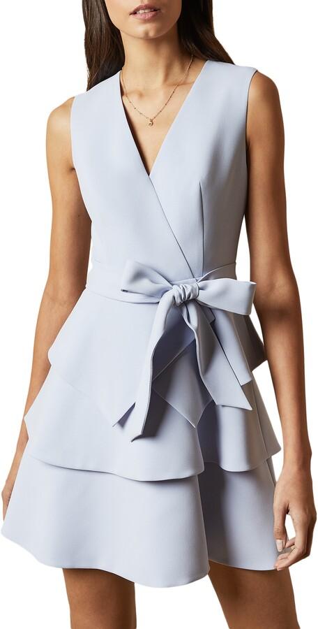 Ted Baker Reinah Tiered V-Veck Sleeveless Dress