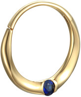Pamela Love 11mm Floating Blue Sapphire Clicker Single Hoop Earring - Yellow Gold