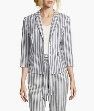 Betty & Co. Striped Blazer, White/Blue