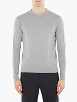 Ami Grey Ribbed Sweater